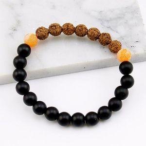 Jewelry - Natural Lava Stone unisex Healing Bracelet